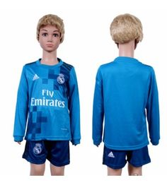 Real Madrid Tredjeställ Barn 17-18 Långärmad Gareth Bale, Ronaldo, Real Madrid, Graphic Sweatshirt, Sweatshirts, Sweaters, Fashion, Moda, La Mode