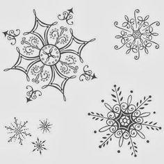 снежинка - проколи иголкой