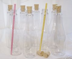 CORK BOTTLES new  8ounce Party Drink / Favor by LolaLovesAparty, $15.00
