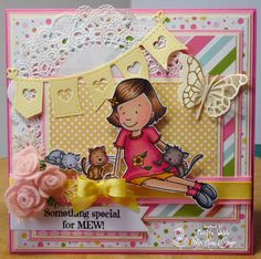 Designed by Marilyn Webb featuring the stamp Pretty Kitties from http://www.kraftinkimmiestamps.com/
