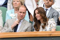 Prince William and Duchess of Cambridge watch the final round of Wimbledon, July 2016