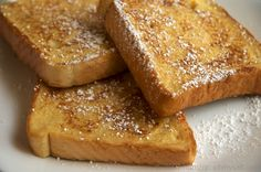 Eggnog French Toast. Literally my favorite holiday treat. :)