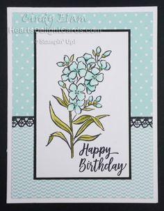 Heart's Delight Cards: Southern Serenade, the Set Handmade Birthday Cards, Happy Birthday Cards, Homemade Greeting Cards, Stampin Up Catalog, Stamping Up Cards, Sympathy Cards, Scrapbook Cards, Scrapbooking, Flower Cards