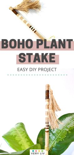 If you have adopted a few plants this year, you know your leafy babies need to be staked when they grow to a certain height. Try making this 10-minute Rain Stick-inspired DIY Plant Stake to add a boho vibe to your garden! Easy Diy Projects, Easy Crafts, Rain Sticks, Diy Tassel, Boho Diy, Garden Plants, Babies, Make It Yourself, Inspired