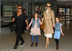 Peas in a pod! Nicole Kidman, 49, was every inch the doting mother as she and Keith Urban ...