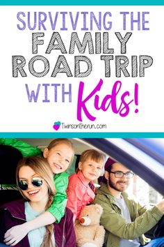 Getting ready to hit the road? Check out these tips for Surviving your Family Road Trip with Kids! #roadtrip #travelwithkids