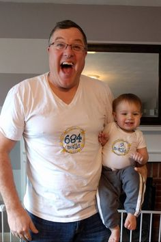 Adorable Grandpa Asks For a Shirt With His Month Age on It to Match Grandson
