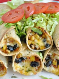 Black Bean and Sweet Potato Flautas - My Honeys Place