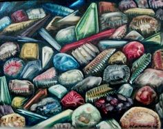 pictures of rocks and gems | Rock and Gem Painting by M-J de Mesterton , Copyright 2006