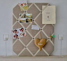 Natural Linen Fabric Notice Board