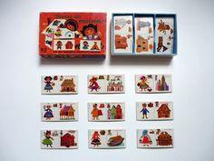 """""""Domino des maisons"""" editado en 1968 por Fernand Nathan. posibles il. de Nina Morel, una de las ilustradoras de jueguetes más famosa de los 60"""