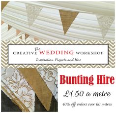 hessian and lace bunting hire  uk