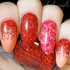 IG @babsnails 'Crimson' from the 'Nail That Accent' collection by Grace-Full Nail Polish A stunning red glitter that is just perfect!  Everyone should own this collection in my opinion!