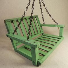 Vintage Childs Doll Wooden Porch Swing