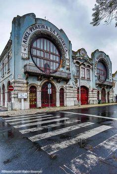 Building in old Marvila neighborhood, Lisbon, Portugal