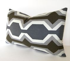 Both Sides Geometric Modern Decorative Pillow Cover by Loubella1