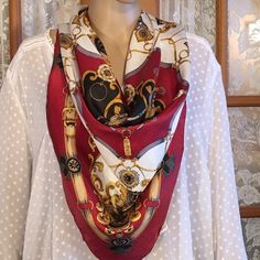 """Beautiful Scarf From Korea 35"""" X 32"""". 100% polyester but it feels like silk. Excellent condition. Non smoking home Accessories Scarves & Wraps"""