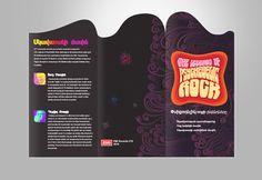 Тhe Legends of Psychedelic Rock Brochure by Vahan Hovhannesian, via Behance