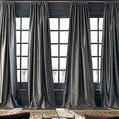 silk curtains in white for living room - X Royal Velvet Grandeur Silk Rod-Pocket/Back-Tab Curtain Panel Silk Curtains, Luxury Curtains, Grey Curtains, Drapery Panels, Velvet Curtains, Curtains With Blinds, Long Curtains, Valances, Window Panels