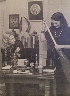 Witches Doreen Valiente and Patrica Crowther... Where Magick Happens https://playgroundofthesenses.com - Pinned by The Mystic's Emporium on Etsy
