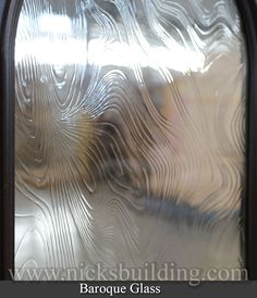 Close up of Baroque Glass. This glass can be installed into almost any door that has a glass option. Entrance Doors, Garage Doors, Doors Online, Wooden Doors, Baroque, Interior And Exterior, My House, Stained Glass, Entry Doors