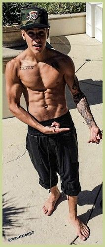 justin bieber Shirtless gym 2013 - justin-bieber Photo