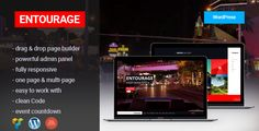 Entourage is fully Responsive, Professional & Multipurpose WordPress Theme designed for movie promotion, presentation of projects, films, images, events and others who need an easy, attractive and effective way to share their work with clients. This theme is universal so it can be used for any site.