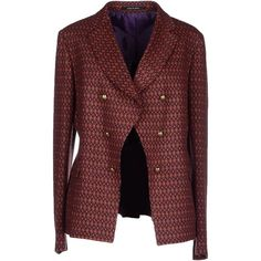 Tagliatore 02-05  Blazer ($340) ❤ liked on Polyvore featuring outerwear, jackets, blazers, pastel pink, red double breasted jacket, multi pocket jacket, flannel blazer, pink jacket and tagliatore