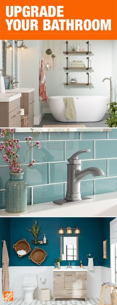 With a wide variety of stunning bathtubs, sleek faucets and modern vanities, we have everything you need to refresh your bathroom. So no matter your style or the size of your space, we can create that wow factor in your next bathroom remodel. Click to shop these looks and more.