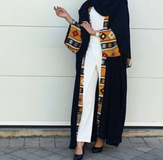 Dubai Women Vintage Open Cardigan Robe Kaftan Muslim Abaya Cocktail Maxi Dress in Clothing, Shoes & Accessories, Women, Women's Clothing, Dresses Islamic Fashion, Muslim Fashion, Modest Wear, Modest Outfits, Abaya Fashion, Kimono Fashion, Tribal Fashion, Mens Fashion, Maxi Floral