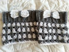 Crochet from J: Striped Boot Cuffs with Bow Pattern