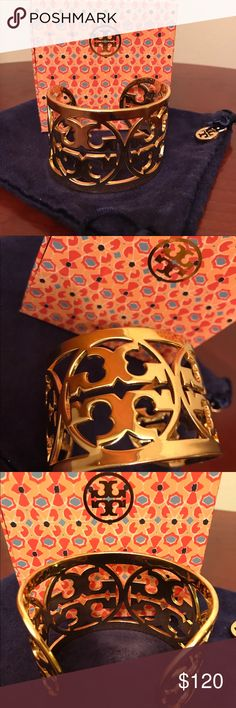 Tory Burch Authentic Tory Burch gold cuff. Like new condition-comes with dust bag Tory Burch Jewelry