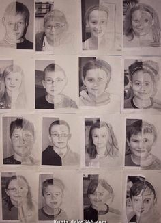 Drawing Pencil Portraits - These self-portrait drawings by graders were on display at the elementary school at the end of the school year, a nice tribute to the Discover The Secrets Of Drawing Realistic Pencil Portraits Portrait Au Crayon, Self Portrait Drawing, L'art Du Portrait, Pencil Portrait, Drawing Art, Self Portraits, Self Portrait Kids, Drawing Ideas, Drawing Portraits