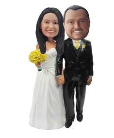 Bobbleheads sculpted from your photo, amazing likeness & premium quality. Custom bobbleheads sculpted from your photos Bobble Head, Your Photos, Coat, Wedding, Fashion, Valentines Day Weddings, Moda, Sewing Coat, Fashion Styles
