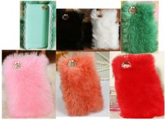 Pretty Colorful Fluffy Style Iphone Fur Case for