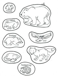 graphic about The Mitten Animals Printable named 346 Least complicated Jan Brett photos within just 2019 Xmas packing containers