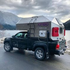 Kimbo adventure camper turns your pickup into a fire-warmed, aluminum-skinned ski cabin on wheels Pickup Camping, Truck Bed Camping, Truck Tent, Camping Life, Jeep Tent, Slide In Truck Campers, Off Road Camper Trailer, Car Camper, Camper Tops