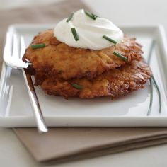Large Gluten Free Latkes | $36. The perfect gluten free appetizer, side or meal. Available at: manykitchens.com