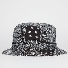 Blue Crown Reversible Paisley Mens Bucket Hat Black One Size For Men 23025710001 from Tilly's. Visor Beanie, Fedora Hat, Bowler Hat, Bob Chapeau, Hats Tumblr, Mens Bucket Hats, Types Of Hats, Bucket Cap, Hip Hop Fashion