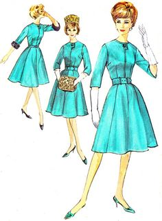 1960s Dress Pattern Simplicity 4672 Day or Evening by paneenjerez, $16.00
