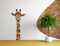 Tree2. PVC Sticker mural amovible en PVC Motif renard arc-en-ciel Taille L