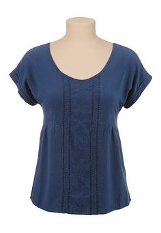 Embroidered scoop neck tee (original price, $26) available at #Maurices