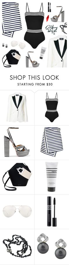 """Captains Dinner Attire"" by sproetje ❤ liked on Polyvore featuring Karl Lagerfeld, Emma Pake, Aquazzura, Carven, Danse Lente, Pirette, Linda Farrow, Christian Dior, Chanel and WhatToWear"
