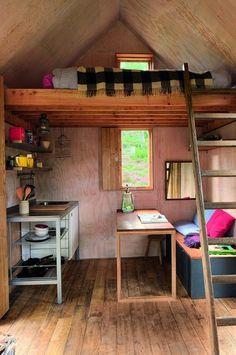 Le coin cuisine-chambre