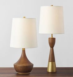Mid-Century Wood Lamps | Rejuvenation