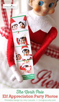 Cute Elf on the Shelf Printables! - Elf Appreciation Party Photos from The North. - Buddy The Elf Elf On The Shelf, Shelf Elf, Noel Christmas, Christmas Elf, Family Christmas, Christmas Quotes, Christmas Christmas, Christmas Wreaths, Christmas Crafts
