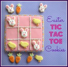Easter Tic Tac Toe Cookies by Melissa Joy