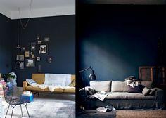 8x donkerblauwe tinten in huis