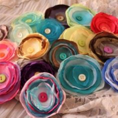 CUTE button bloom hair clips (for big and little girls!) $6.00