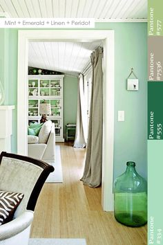 Color Wheel | Mint + Emerald + Linen + Peridot